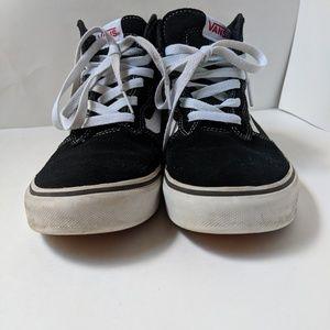 Vans Ward High Top Canvas/Suede Sneakers